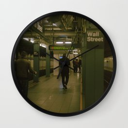 """""""Under Wall Street"""" color film photo Wall Clock"""