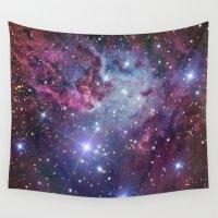 nebula Wall Tapestries featuring Nebula Galaxy by RexLambo