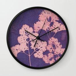 Cyanotype No. 10 Wall Clock
