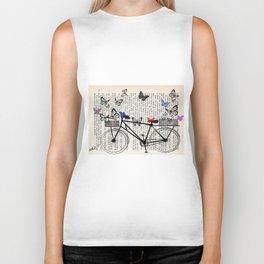 Bicycle and butterflies Biker Tank