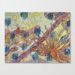 Beach Vegetation With Octopus Canvas Print