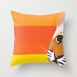 Tiger club Throw Pillow