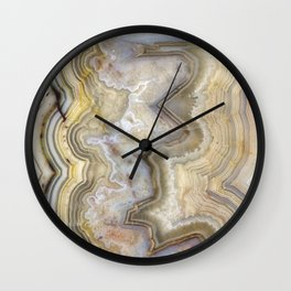 Jagged Agate Wall Clock