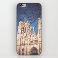 brussels iPhone & iPod Skins featuring Brussels Cathedral by Ghdv Grafias