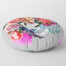Flower Skull Floor Pillow