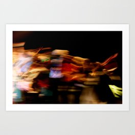 Make the lights dance and you'll never stop smiling Art Print