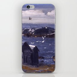"George Wesley Bellows ""The Gulls, Monhegan"" iPhone Skin"