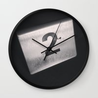 number Wall Clocks featuring Number 2 Table Number by Redhedge Photos