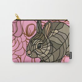 Bella - Mosaic Bunny Carry-All Pouch