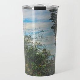 Leaves by the shore Travel Mug
