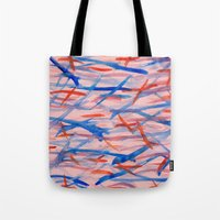 swim Tote Bags featuring Swim by Sandra Arduini