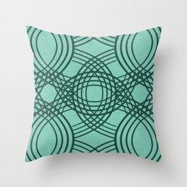 Celtic Knot pattern Spearmint Throw Pillow