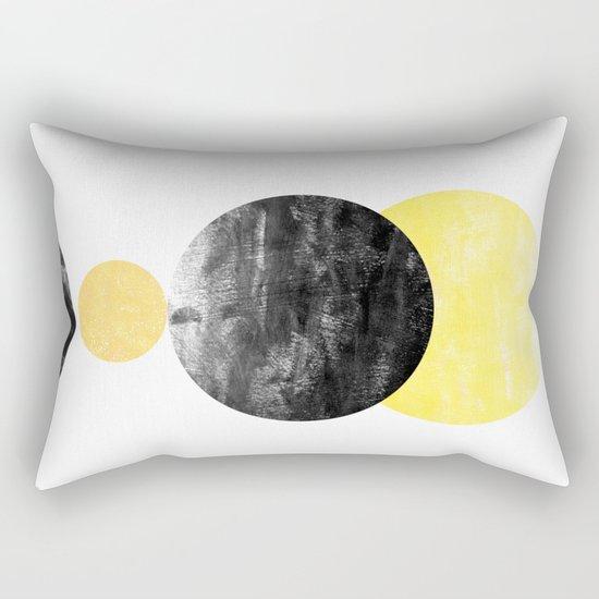 Geller - modern minimal abstract painting white and black gold foil glitter sparkle hipster trendy  Rectangular Pillow