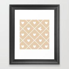 Always Near (from the Valentine Set) (colors: warm vanilla) Framed Art Print