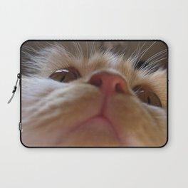 Funny Cute Cat Macro Eyes Laptop Sleeve