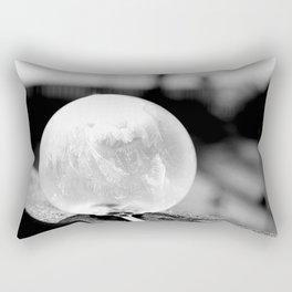 Black and White Frozen Bubble Rectangular Pillow
