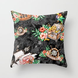 Pirate #5 Throw Pillow