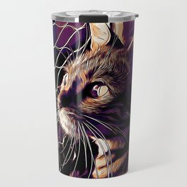 bengal cat yearns for freedom vector art late sunset Travel Mug