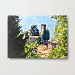 Duomo of Barga (color) Metal Print