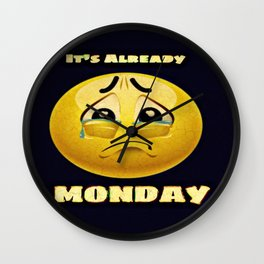 Monday Blues Wall Clock