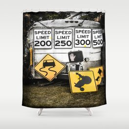 Speed Limit Ahead Shower Curtain