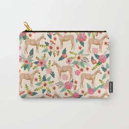 Palomino Horse floral farm nature animal horse lovers ponies florals Carry-All Pouch
