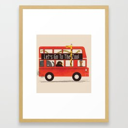 Let's Go To The Zoo! Framed Art Print
