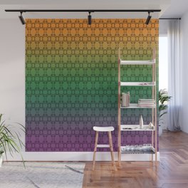 Hand drawn Seed Pods on Multicolor background Wall Mural