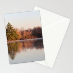 Morning Mist over the lake! Stationery Cards
