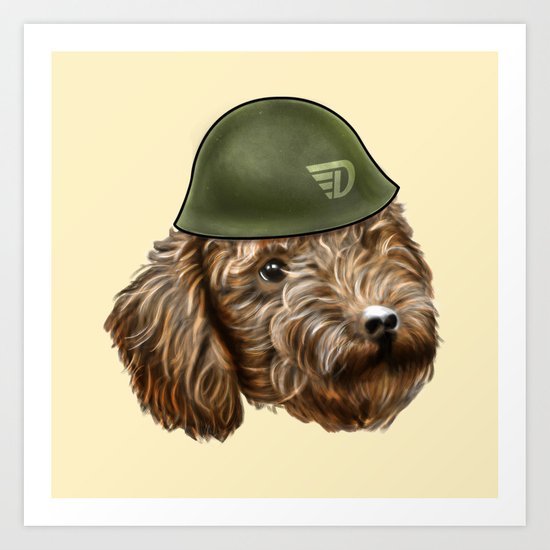 Toy Poodle Soldier Art Print