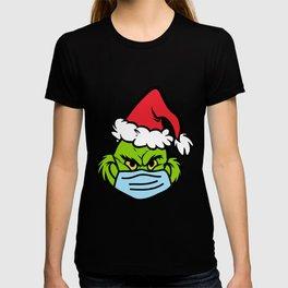 Grinch Face Mask T-shirt