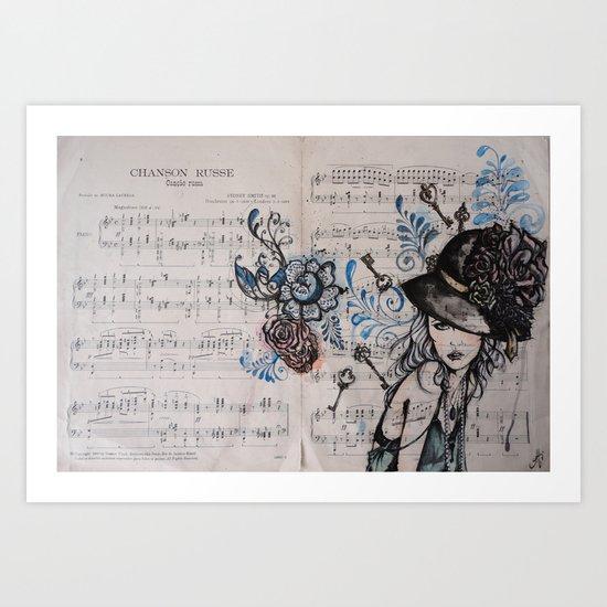 Chanson Russe Art Print
