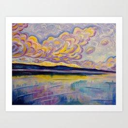 Sunrise on the Comox Glacier Art Print