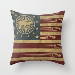 Gunmerica Throw Pillow