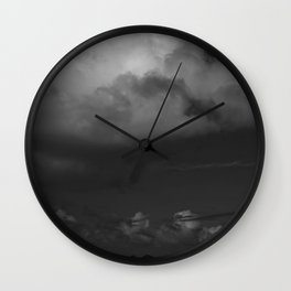 Dark Island Day Wall Clock