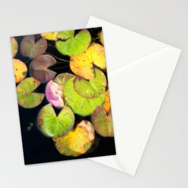 Autumn Lilypads - Fall Colors In A Garden Pond Stationery Cards