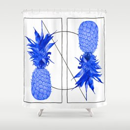 Blue Pineapples design Shower Curtain