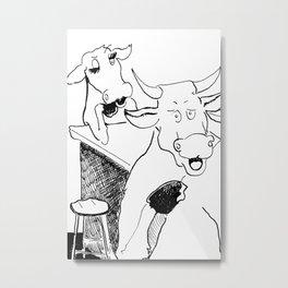 Claudine's Making Cow Eyes Metal Print