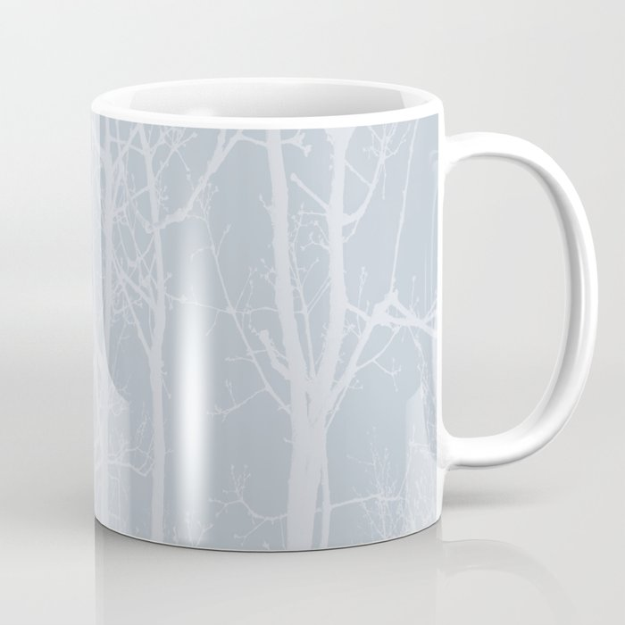 Tree silhouettes on bluestone Coffee Mug
