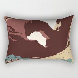 See America National Park Poster Rectangular Pillow