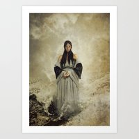 musa Art Prints featuring La Musa del Lamento by Naelle Devannah