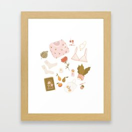 Girly stuff Framed Art Print