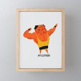 Flex Friday Framed Mini Art Print