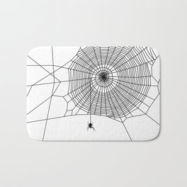 Spider Hanging From Web Bath Mat