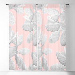 White Blush Cacti Vibes #2 #plant #decor #art #society6 Blackout Curtain