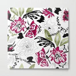 Watercolor flowers Metal Print