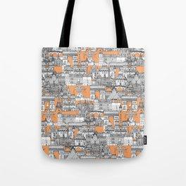 Paris toile cantaloupe Tote Bag