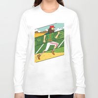 run Long Sleeve T-shirts featuring Run by Derek Eads