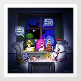 Scary Movie Night Art Print