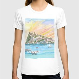 Amore in Ischia Italy with Castello Aragonese T-shirt